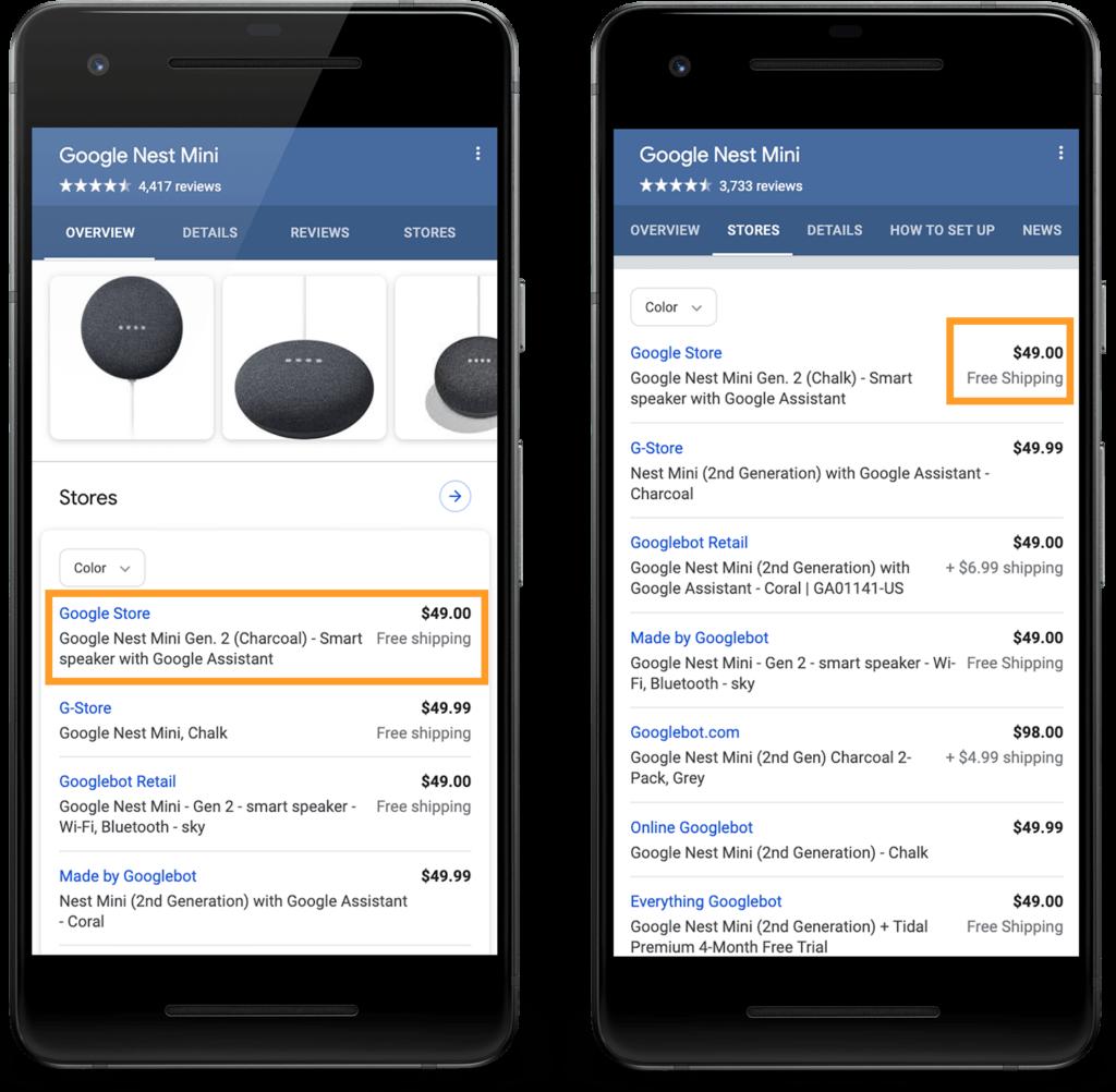 Google検索で商品に対し予想配達時間と配送コストの構造化データをサポート開始