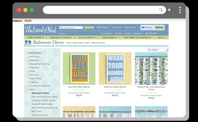 ショッピング例2(高)店舗サイト・バスルーム装飾ページ