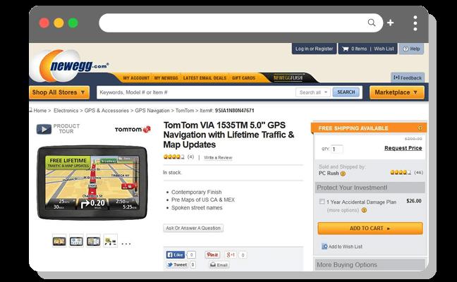 ショッピング例3(高)GPSページ・エレクトロニクスウェブサイト