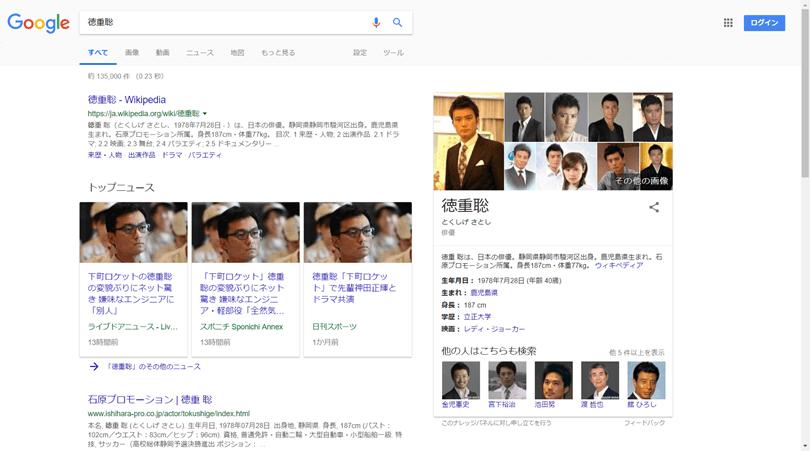 Google検索 徳重聡